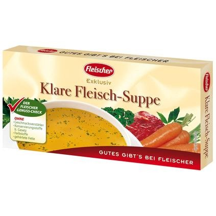 Klare Fleischbrühe Würfel