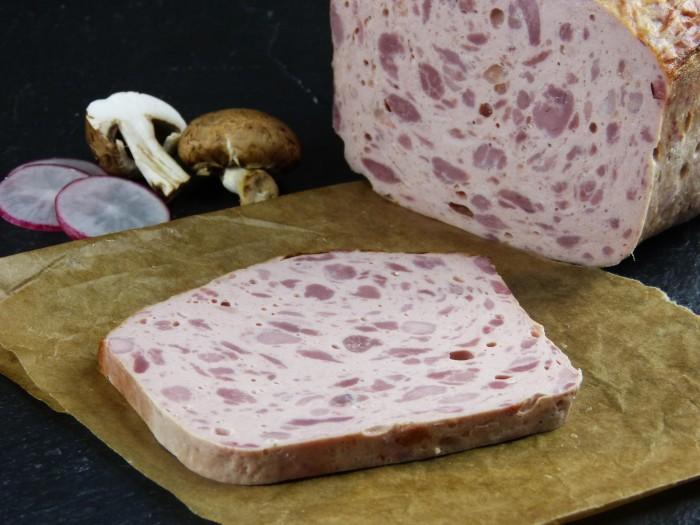 Fleischkäse grob gebacken Riegel