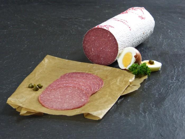 Truthahn Salami geschnitten
