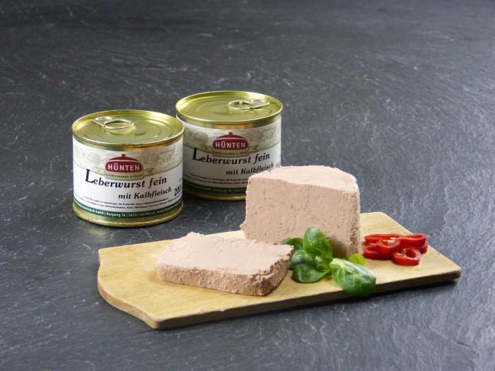 Leberwurst fein mit Kalbfleisch - 200g Dose