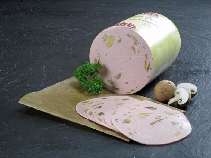 Champignon-Lyoner geschnitten