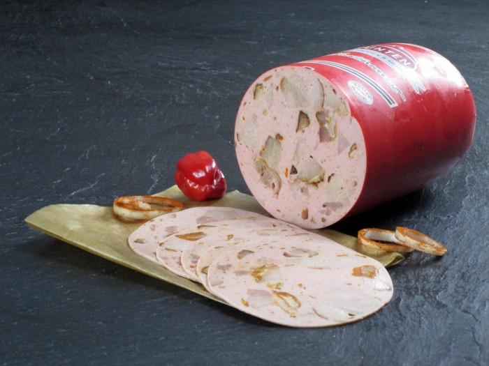 Spießbratenwurst geschnitten