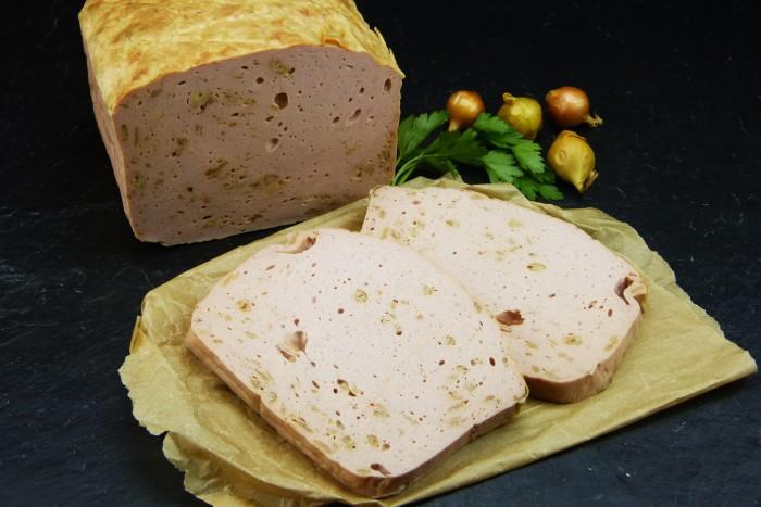 Zwiebelfleischkäse gebacken Riegel