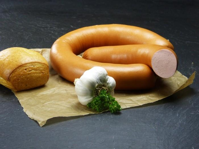 Fleischwurst im Ring mit Knoblauch - 1/2 Ring
